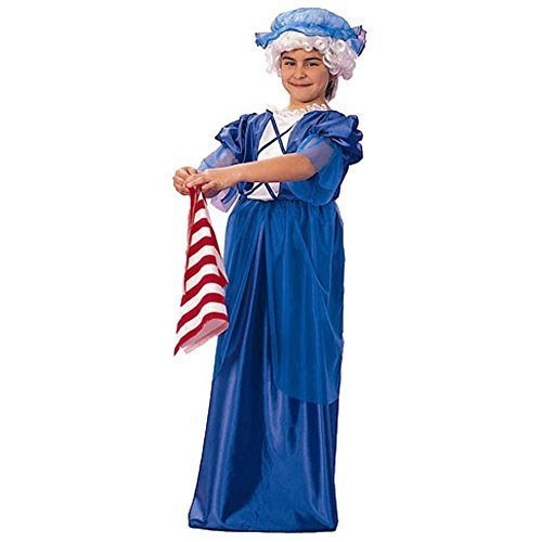 Child's Girl's Colonial Lady Halloween Costume (Size:Small 4-6) by RG ()