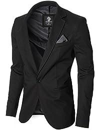 MODERNO - Slim Fit Herren Sakko Blazer Jacke (MOD14519B)