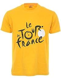 Tour de France Tdf-SA-3000 J L/B T-Shirt Homme, Jaune, FR : L (Taille Fabricant : L)