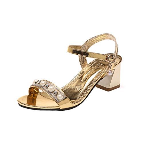 ❤️ Funkelnde Perle Dekoration Elegant Sandalen, Amlaiworld Sommer Strand Damen Gemütlich Hausschuhe Casual Geschenk Schuhe Party Stilvoll Outdoor Sandalette Geschäft Mode Pumps