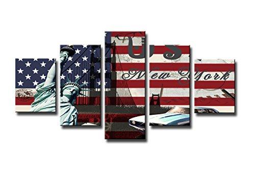 160-x-80-cm-Bild-auf-Leinwand-USA-Flagge-5550-SCT-deutsche-Marke-und-Lager-Die-Bilder-das-Wandbild-der-Kunstdruck-ist-fertig-gerahmt