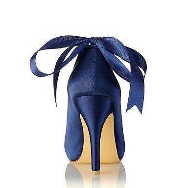 Best 4U® Da donna Scarpe Raso elasticizzato Primavera Estate Decolleté scarpe da sposa A stiletto Punta aperta Cristalli Perle per Formale Serata royal blue