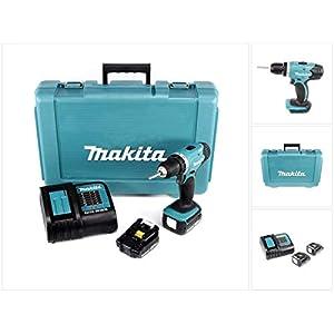 Makita DDF343SYE DDF 343 SYE 14,4V Bohrschrauber mit 2X 1,5 Ah Akku und Ladegerät im Werkzeug Koffer