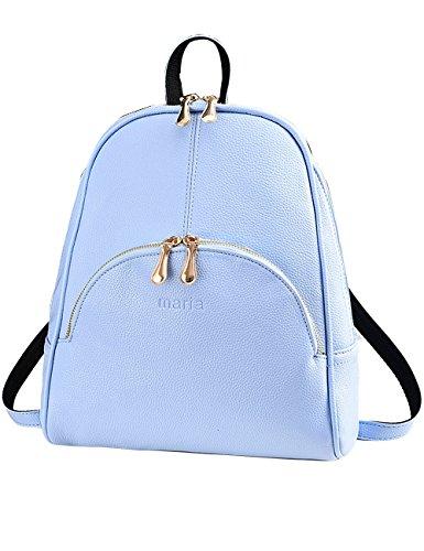 Menschwear PU Zaino Satchel Daypack sacchetto di scuola Leggero Blu Leggero Blu