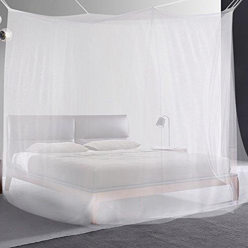 Moskitonetz, Vitutech Fliegennetz Mückennetz Insektennetz Spitze Betthimmel Moskitonetz für Einzel oder - Doppelbetten Indoor or Outdoor - Travel Insekten Malaria Schutz Weiß