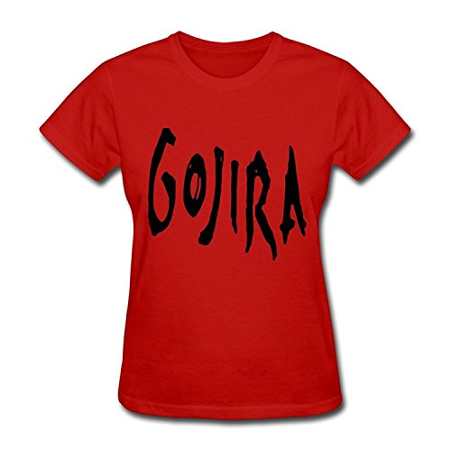 SHUNAN Women's Gojira Band Logo T-shirt