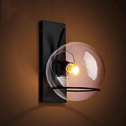 DEED Wandleuchte Korridor Gang Schlafzimmer Industrial Edison Einfachheit Glaswand Metallboden Cap Esszimmer Arbeitszimmer Büro Flur Wandhalterung Licht dekorative Lichter