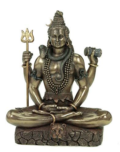 Indischer Gott Shiva mit Dreizack Hinduismus Figur Indien
