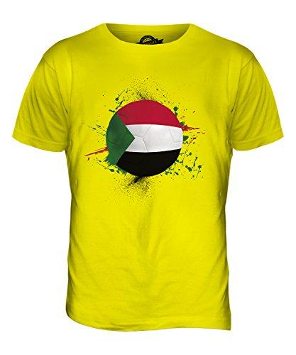 CandyMix Sudan Fußball Herren T Shirt Zitronengelb