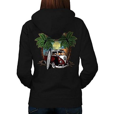 Beach Sun Travel Holiday Women L Hoodie Back | Wellcoda