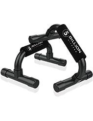 5BILLION Soporte para Flexiones Push Up Bars Stand - Gimnasio en casa Ejercicio Rutina de ejercicio Formación - Bueno para Tu Entrenamiento Muscular - Mango de espuma (Negro)