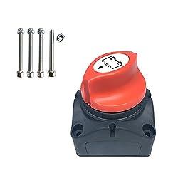 WINOMO Trennschalter f/ür Batterie Ein-//Aus-Schalter Auto Batteriehauptschalter