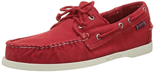 Herren Canvas Red DOCKSIDES Rot Bootsschuhe Sebago 5F0wxUqYf