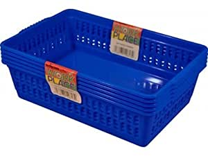 Dee Blue Set of 5 Small Plastic Handy Fruit Vegetable Basket Kitchen Office Storage by Wham