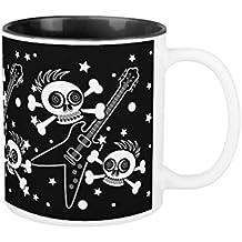 Regalos para Papá ml Único Heavy Metal Calaveras Sarcasm Taza cerámica Papa Taza regalos de Navidad para padre Regalos de cumpleaños