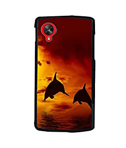 printtech Fish Dolphin Sea Back Case Cover for LG Google Nexus 5::LG Google Nexus 5 (2014 1st Gen)