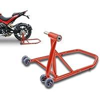 ConStands Cavalletto Alza Moto Ducati Monster S2R 1000 06-08 rosso, Single posteriore per Monobraccio, adattatore (Moto Ducati)