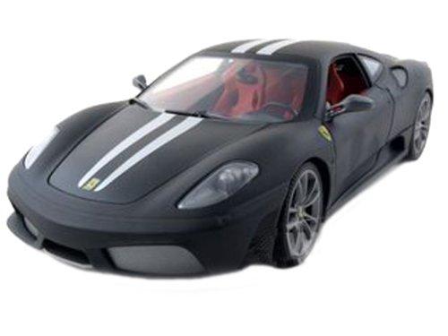 Mattel Ferrari F430 Scuderia matt schwarz / weiß 1:18