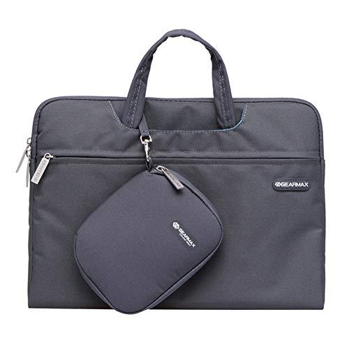 Laptop-Tasche für Frauen 13,3-14 Zoll Multifunktions-Notebook-Computer Fall Handtasche uppressible Griff, tragbare Hülle Aktentasche-grey-13.3inch