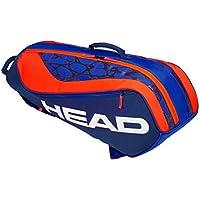 HEAD Unisex Jugend Junior Combi Rebel Tennistasche, Blue/orange, Einheitsgröße