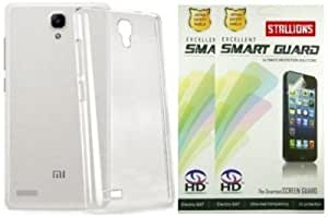 Stallions Transparent Back Cover and 2 Screen Guards for Xiaomi Redmi Note Combo