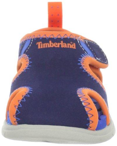 Timberland Little Harbor Closed Toe, Sandales mixte enfant Navy/Royal/Orange