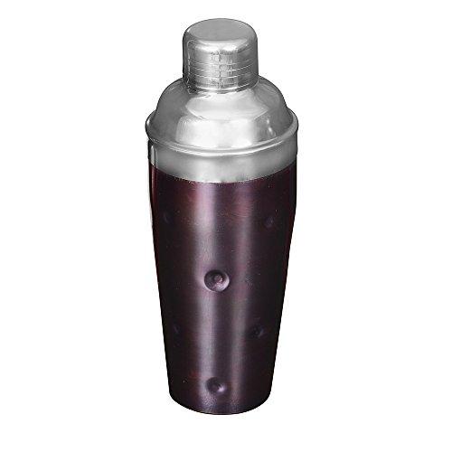 Kosma Edelstahl Cocktail Shaker | Mocktal Shaker | Getränk Shaker - Grübchen und Kupfer Antik Finish 750 ml