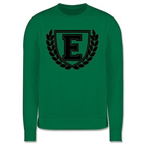 Anfangsbuchstaben - E Collegestyle - Herren Premium Pullover Grün