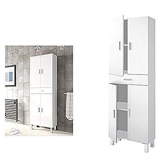 Armario almacenaje con 4 Puertas + 1 Cajon, Medidas 180 x 60 x 29,5 cm