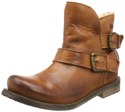 Buffalo London  ES 30243 GARDA, Bottes à enfiler femme Marron - Braun (BRANDY 01)