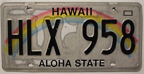 USA Nummernschild HAWAII ~ US Kennzeichen Regenbogen Motiv Schild ALOHA ~ Blechschild