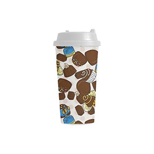 enutzerdefinierte 16 Unzen Doppelwandige Kunststoff Isoliert Sport Wasserflasche Tassen Pendler Reise Kaffeetassen Für Studenten Frauen Milch Teetasse Trinken ()