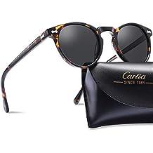 Carfia Vintage Polarizadas Gafas de Sol Mujer Hombre UV400 Protección para  Viajes Conducir 40e9e009d9d6