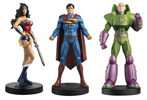 DC Masterpiece Superman, Wonder Woman and Lex Luthor Figures with Magazines #3 by Eaglemoss Publication