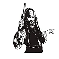 jiushizq Sparrow Wall Sticker Vinyl Decal Pirates Art Adventure Decorations For Home Kids Room Bedroom Nursery D