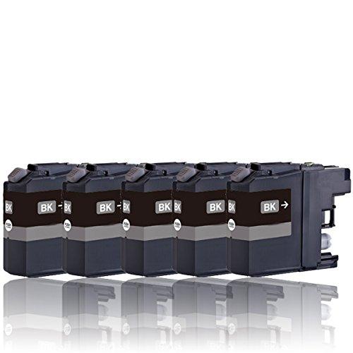 Preisvergleich Produktbild 5 Druckerpatronen (schwarz/black) kompatibel zu LC121BK/LC123BK/LC127BK mit Chip (für BROTHER DCP-J132W J152W J552DW J752DW J4110DW MFC-J245 J470DW J650DW J870DW J4410DW J4510DW J4610DW J4710DW J6520DW J6720DW J6920DW)