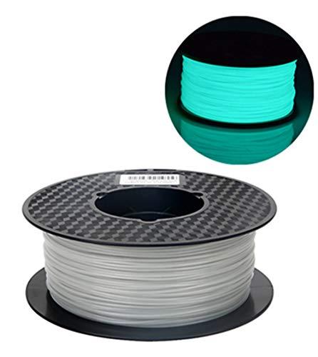 Blau 3D Drucker Filament PLA 1,75 mm Glow In Der Dunklen Farbe Serie 1 KG (2,2 kg), Maßgenauigkeit +/- 0,05mm ()