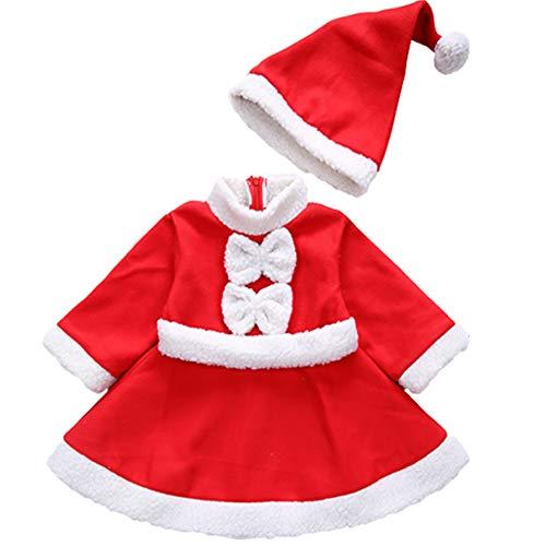 Tempshop Kid Little Girl Boy Weihnachten Kleidung Kostüm Bowknot Party Kleider Hut Outfit