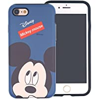 iPhone SE / iPhone 5S / iPhone 5 Case , DISNEY Cute Mickey Mouse Layered Hybrid [TPU + PC] Bumper Cover [Shock Absorption] for Apple iPhone SE / 5S / 5 - Face Mickey Mouse