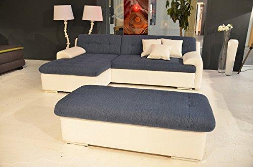 Dreams4Home Ultrasofa 'Mason' - Couch, Recamiere links oder rechts, Schlaffunktion, Sofa, Wohnzimmer, Polstergarnitur, inkl. Rückenkissen, Federkern...