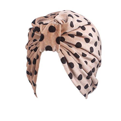 Herbst Und Winter Flanell Schal Mütze Gold Samt Leopard Punkt Indien Chemotherapie Hut,B-M (Leopard Kapuzen Schal)