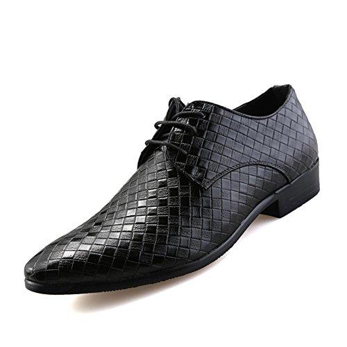 XiaoYouYu Oxfords, Chaussures à lacets homme Noir