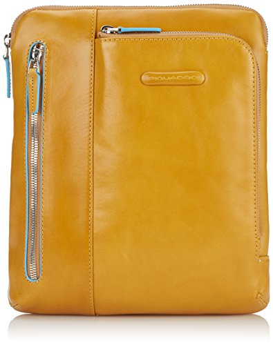 Piquadro -  - Sac de messager mixte adulte, marron (), Jaune