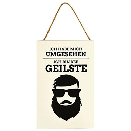 Kultige Hipster (Annastore Holzschild Ich Habe Mich umgesehen, ich Bin der Geilste Schilder Männergeschenk)