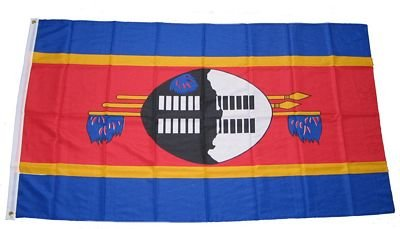 Fahne / Flagge Swasiland Zwasiland 90 x 150 cm Flaggen