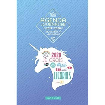 Agenda journalier de ma petite vie bien remplie 2019-2020: Chaque jour est à inventer !