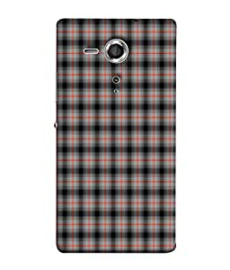 PrintVisa Block Pattern 3D Hard Polycarbonate Designer Back Case Cover for Sony Xperia SP :: Sony Xperia SP HSPA C5302 :: Sony Xperia SP LTE C5303 :: Sony Xperia SP LTE C5306