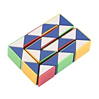 BIYI Snake Magic 3D Cube Game Puzzle Twist Toy Party Travel Family Child Gift Good for Promoting Children