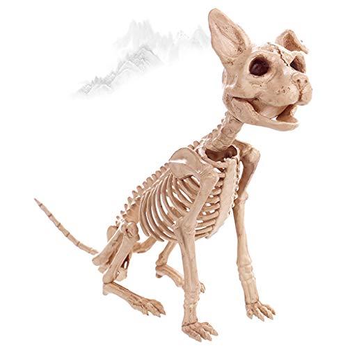 Sisyria Halloween-Skelett-Dekorationen, Hunde- und Katzenskelett-Fossilien für Halloween-Partys Easter Haunted Houses Graveyard - Niedliche Kostüm Für Paare Billig