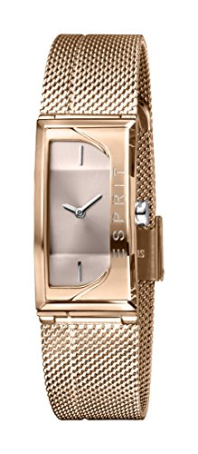 Esprit Damen Analog Quarz Uhr mit Edelstahl Armband ES1L015M0035